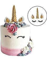Decoración para tarta para gsh-unicorn, reutilizable Unicorn Horn, orejas y juego de