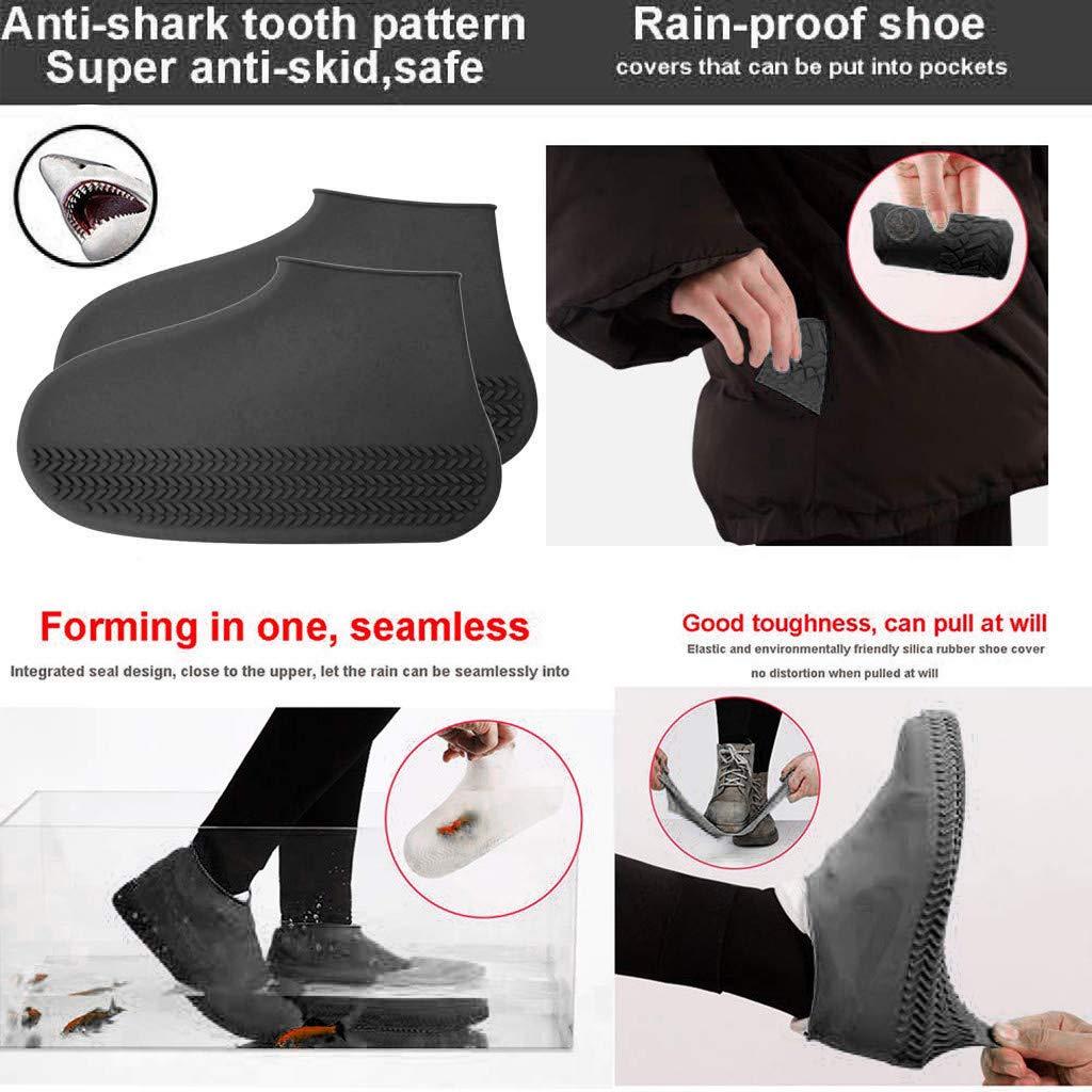 feiXIANG Regen/überschuhe Regenschutz Wasserdicht Silikon /Überschuh Outdoor Wandern Rutschfeste Flache Schuh/überzieher
