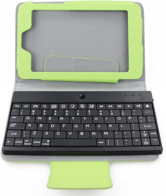 FLYSHOP Folio Case con extraíble teclado Bluetooth para Google Nexus 7 verde
