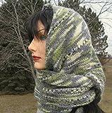 Hand knit Alpaca Shawlette