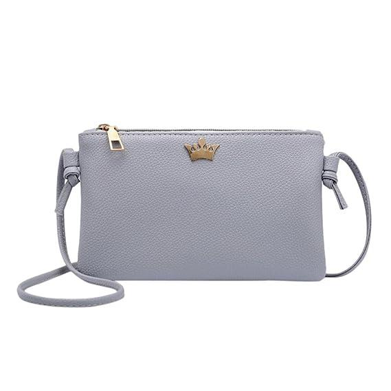 Cartera de mujer, RETUROM 2018 Bolso de la moneda de la bolsa del teléfono del bolso de hombro de Crossbody de la cubierta de la moda de las mujeres (gris): ...