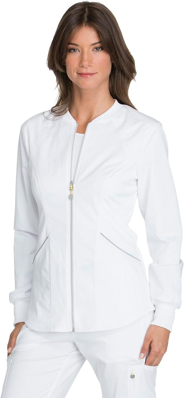 Cherokee Luxe Sport Women's Zip Front Warm-up Scrub Jacket