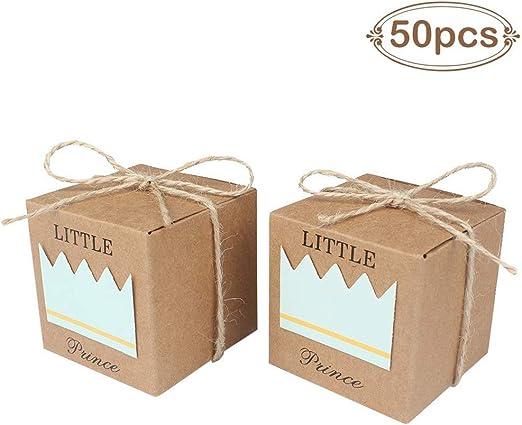 Amazon.com: AerWo - 50 cajas de regalo para fiesta de bebé ...