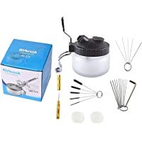 Podoy Airbrush Cleaning Kit Spray Wash Cleaning Pot Stabilizer Jar Bottles Holder with Cleaning Tools Needle Nozzle…