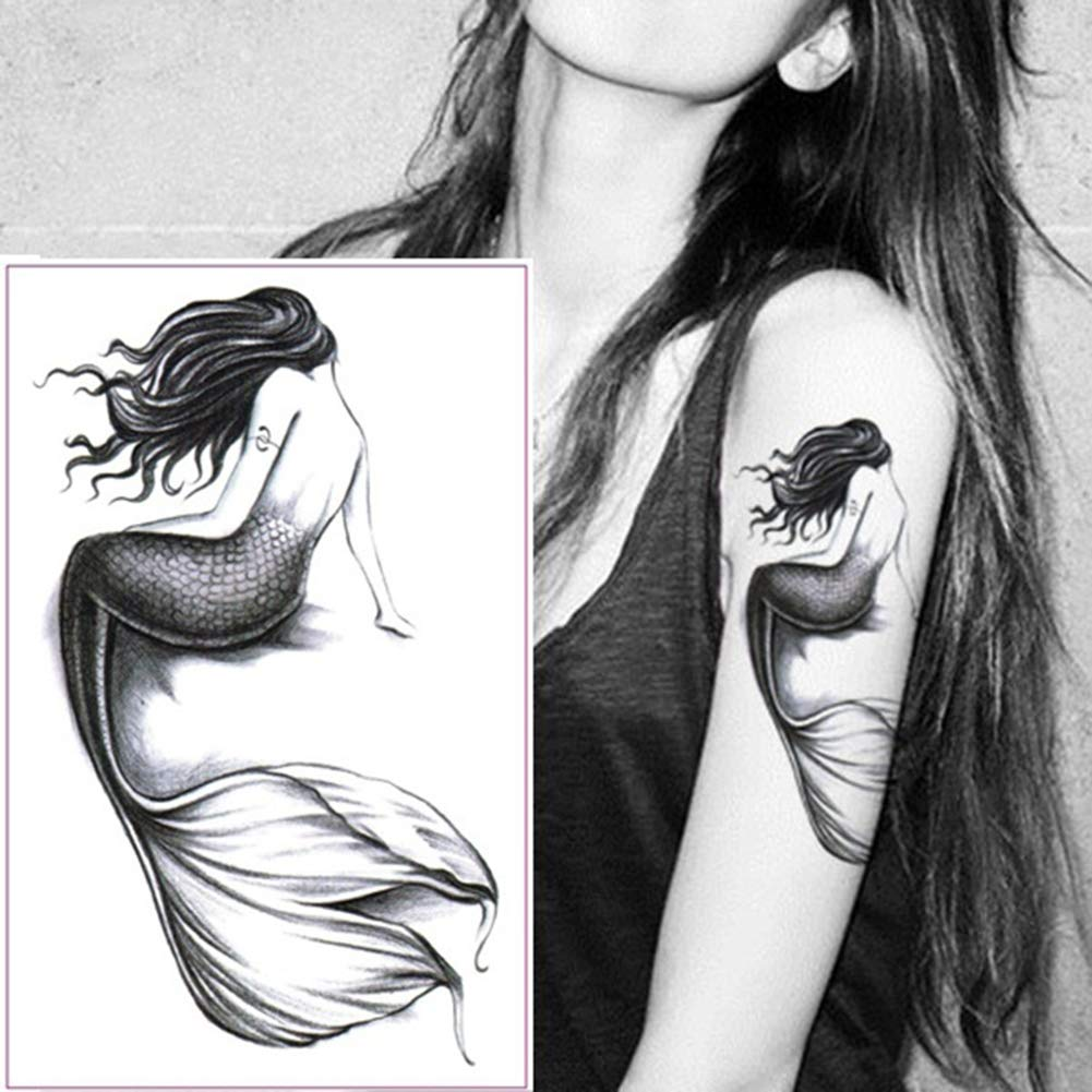 xxiaoTHAWxe Mermaid Arm Waterproof Temporary Fake Tattoo Sticker Women Girl Body Art Decal
