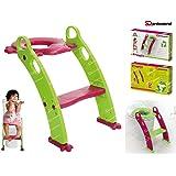 SQ Professional Froggie bebé orinal formación asiento con escalera pasos, morado o verde verde verde