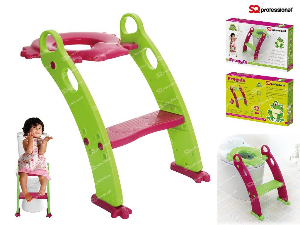 SQ Professional - asiento con escalera morado o verde orinal para bebé verde verde