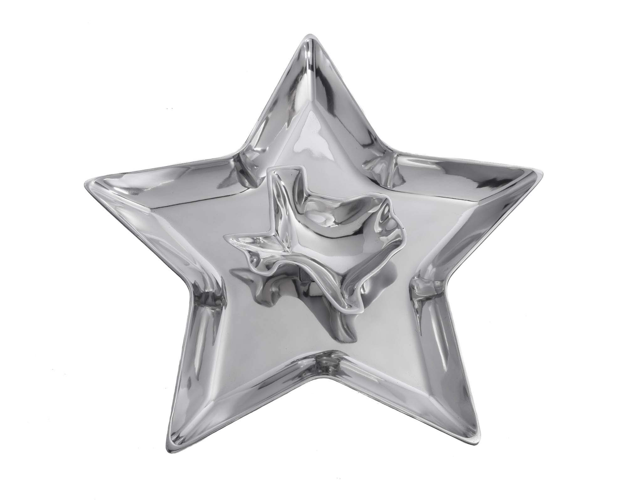 Arthur Court Designs Aluminum 14'' Texas Star and State Chip and Dip