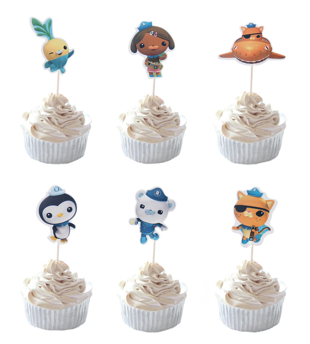 Amazon Party Hive 24pc Octonauts Cupcake Toppers For Birthday Event Decor Kitchen Dining