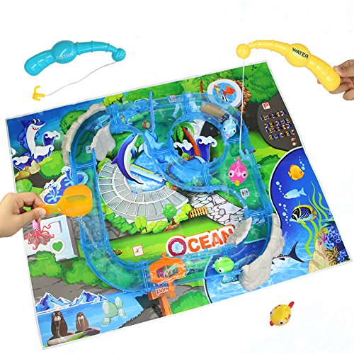 Water Fishing Game Toy Race Track Set