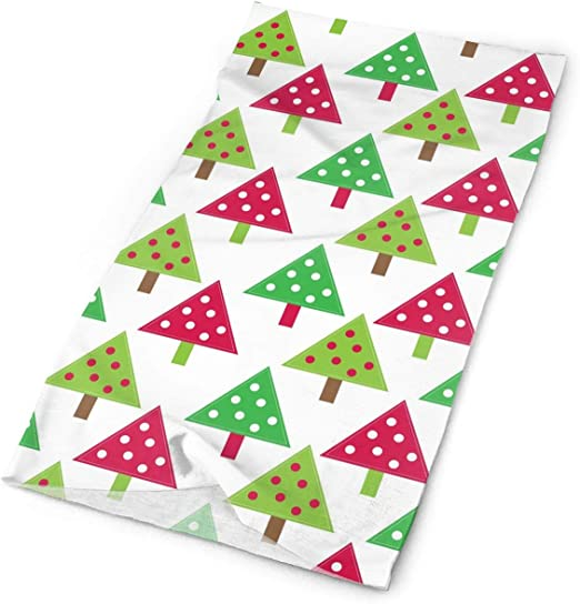 Colored Christmas Pattern Unisex Fashion Quick-Drying Microfiber Headdress Outdoor Magic Scarf Neck Neck Scarf Hooded Scarf Super Soft Handle