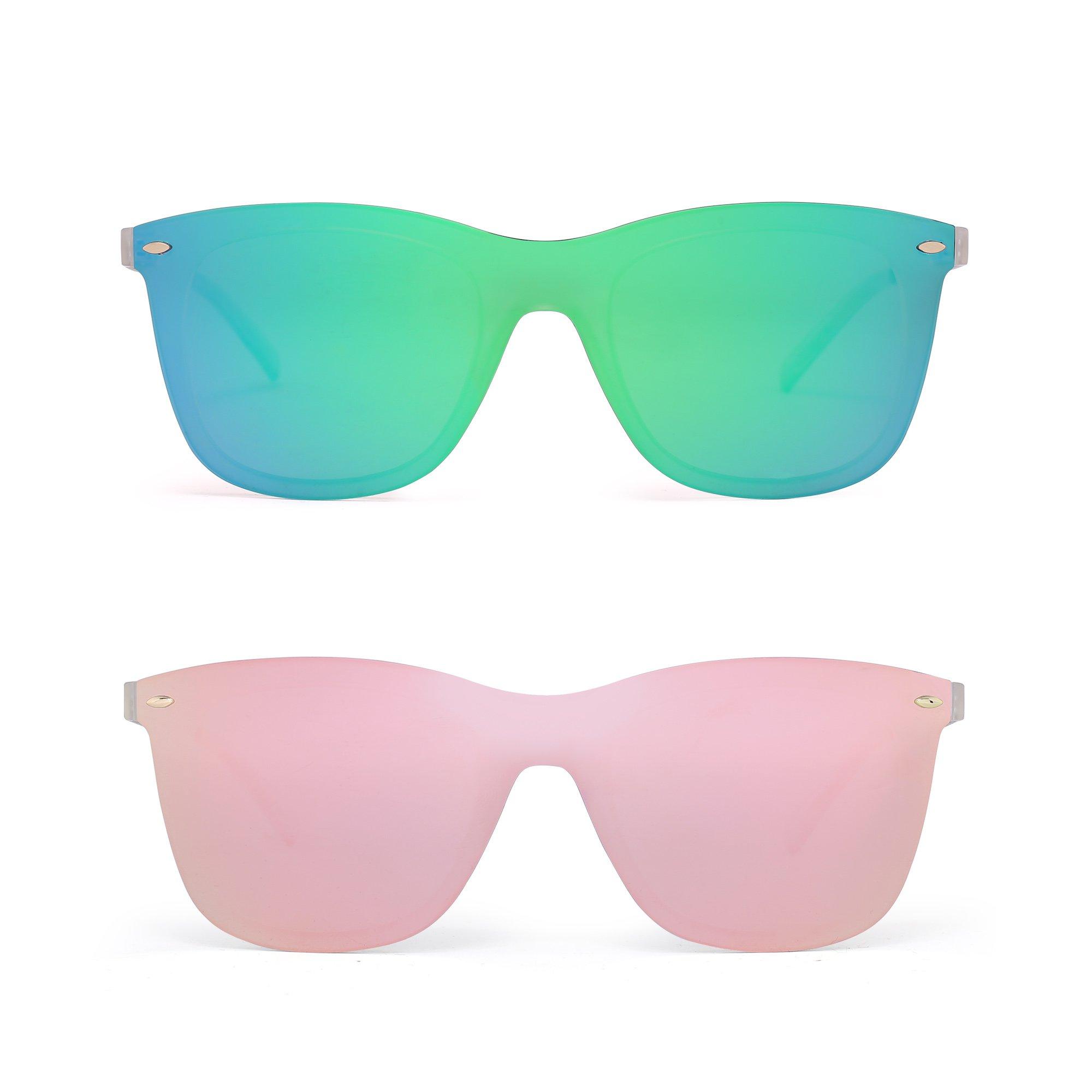 Sin Montura Espejo Gafas de Sol Una Pieza Sin Marco Anteojos Hombre Mujer product image