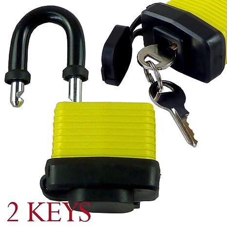 Nuevo 40 mm candado con 2 llaves - impermeable Ideal para uso doméstico, caseta de