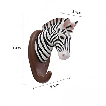 Amazon.com: Faux forma de animal ciervo cabeza Zebra Wall ...