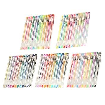 Farbe Gel Pen, BEETEST 60ps MultiColor Glitter Gelschreiber für ...