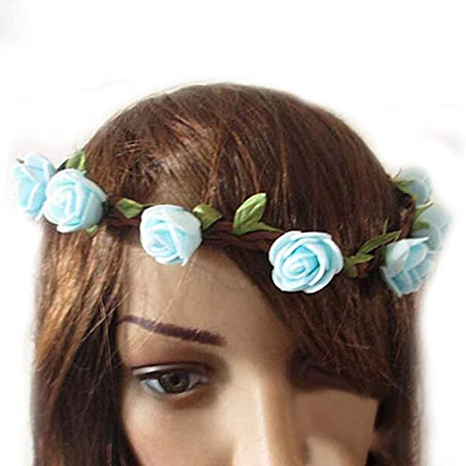 Amazon.com  Wintefei Women Rose Flower Beautiful Hair Band Accessory  Headband for Wedding Festival  Clothing a548cafdbe3