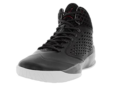 ac66ff5308b4 Nike Jordan Mens Jordan Rising High Black Gym Red Cool Grey White Basketball
