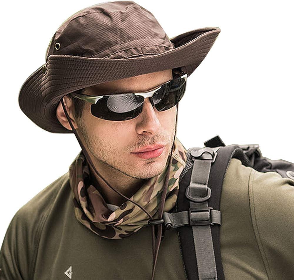 WANYIG Hombres Sombrero para el Sol Plegable Sombrero de Safari Trekking Senderismo Secado r/ápido Transpirable Mujer Sombrero de Pescador Verano Protecci/ón UV