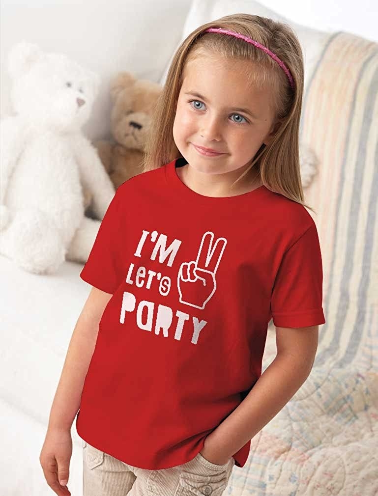 Im Two Lets Party Cute 2nd Birthday Gift Toddler Kids T-Shirt