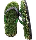 GFF Grass Flip Flops, X-Small (5.5-7), Black Green