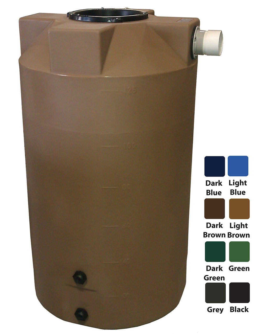 125 Gallon Rain Harvest Collection Tank, Light Brown by Polymart