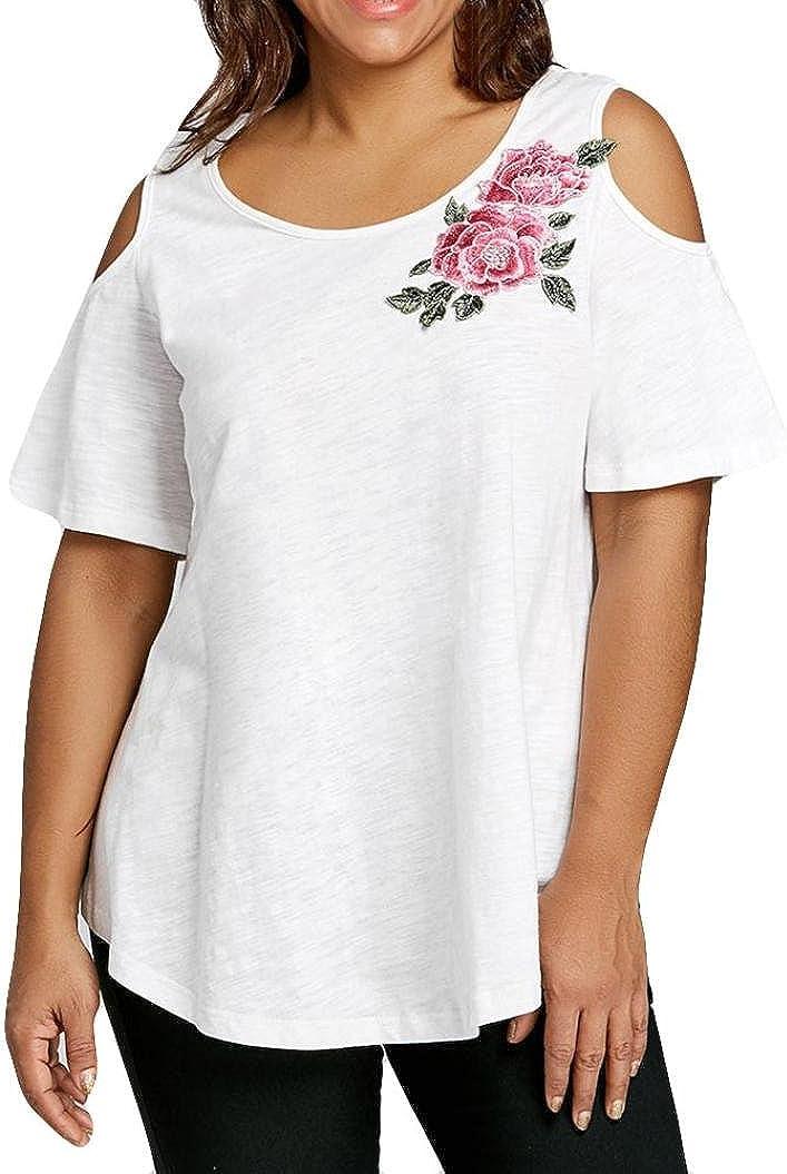 Camiseta Sexy Mujer, Xinantime Camisetas Mujer Verano Elegante Blusa Mujer Manga Corta Algodón Camisetas Mujer Fiesta Camisetas Sin Hombros Mujer Camisetas Mujer Tallas Grandes: Amazon.es: Ropa y accesorios