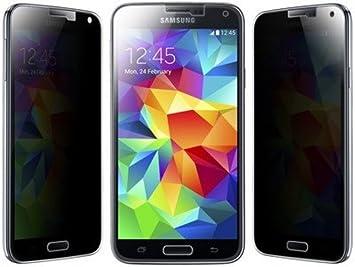 Funnytech_ Protector de pantalla Cristal templado para Samsung Galaxy S5 / S5 Neo (Privacy) Anti espia, visión oculta. Calidad HD, Grosor 0,3mm (Incluye instrucciones y soporte en Español): Amazon.es: Electrónica