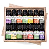Top 14 Essential Oil Set. Includes 100% Pure, Therapeutic Grade Oils of Bergamot, Clary Sage, Cinnamon, Eucalyptus, Grapefruit, Lavender, Lemon, Lime, Patchouli, Peppermint, Rosemary, Spearmint, Orange & Tea Tree. 10 ml each.