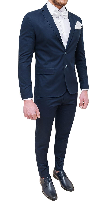Abito completo uomo Trade Sartoriale blu scuro elegante made in Italy con  papillon e pochette ingrandisci 54b848d153e