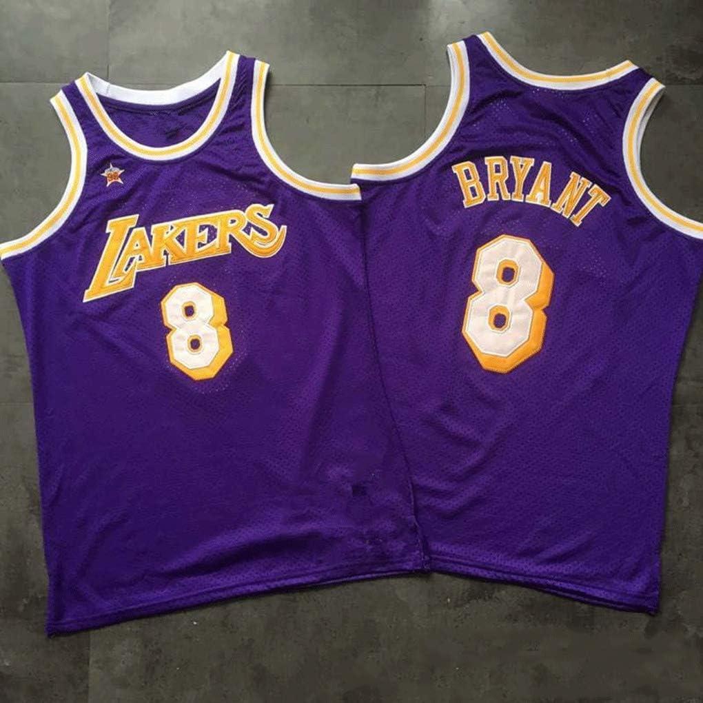 1998 All-star Retro Basketball Jerseys Unisex T-shirt Kobe Bryant #8 New Fabric Encryption Embroidery Basketball Uniform Swingman Jersey Los Angeles Lakers