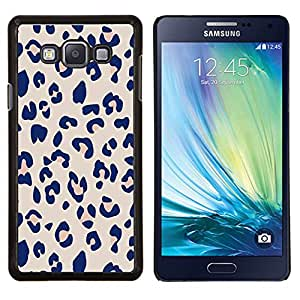Stuss Case / Funda Carcasa protectora - Piel púrpura patrón animal Rosa - Samsung Galaxy A7 ( A7000 )