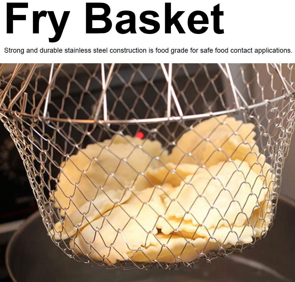 BigBig Style Faltbarer Frittierkorb f/ür Pommes Frites Kartoffeln Fritteuse Frittier-Werkzeug