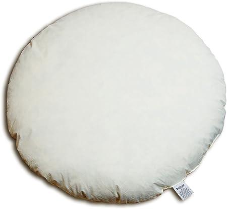 40 cm Homescapes Coussin de garnissage de forme ronde 100/% Microfibre