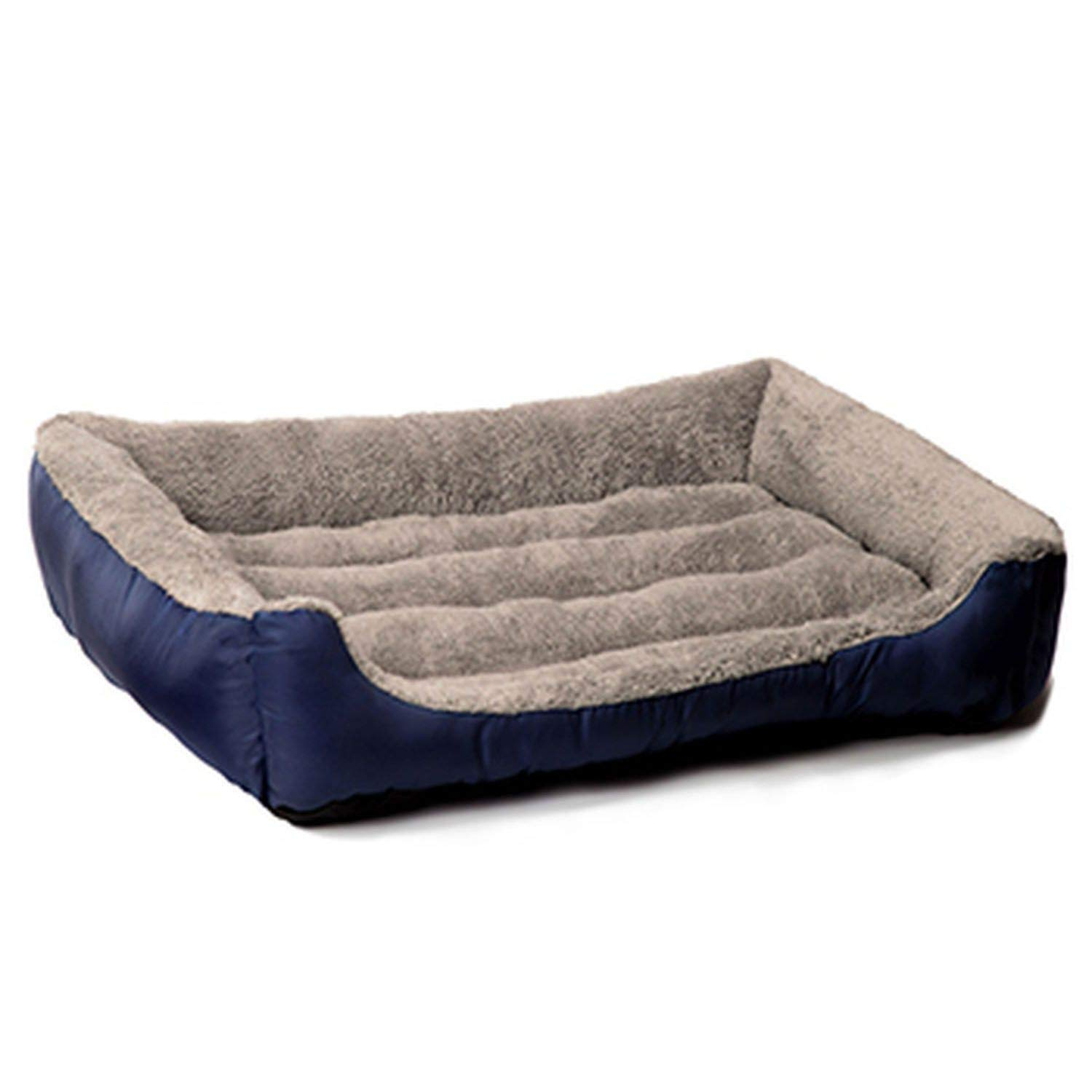 CHUNXU Warm Dog Bed Soft Dog Baskets Used Warm Kennel for Cat Puppy Plus Size,Navy bluee,XL 80x60x15cm