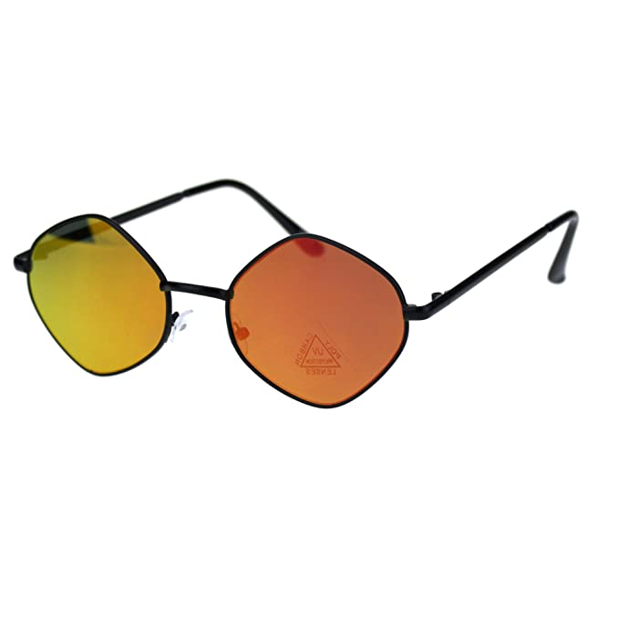Amazon.com: Gafas de sol retro Hippie con espejo reflectante ...