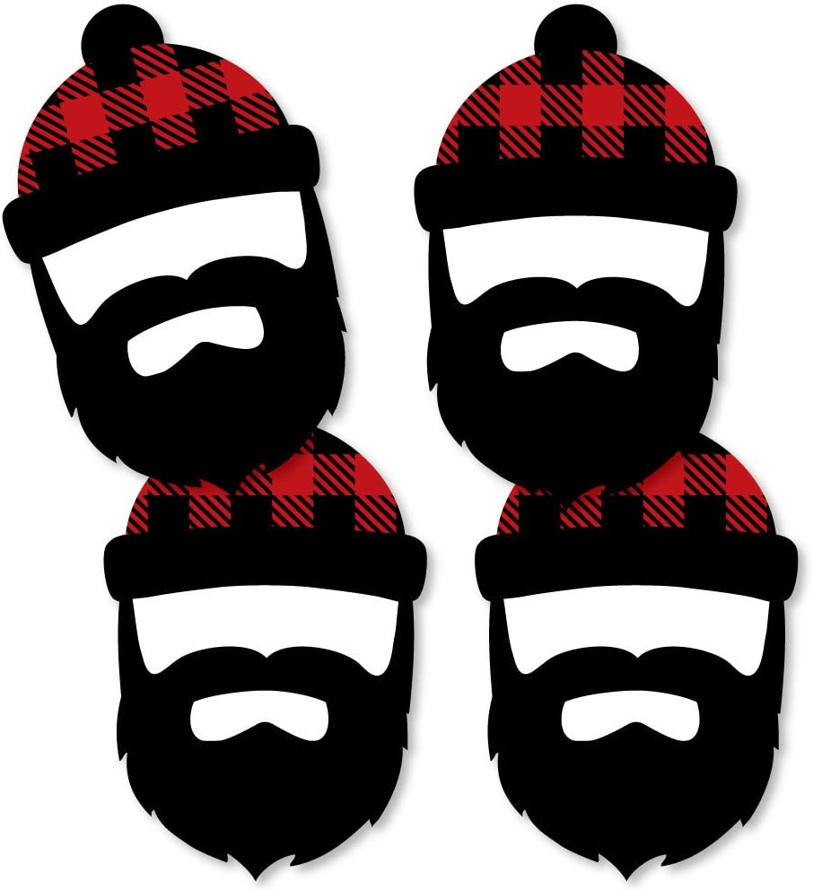 Big Dot of Happiness Lumberjack - Channel The Flannel - Lumberjack Decorations DIY Buffalo Plaid Party Essentials - Set of 20