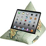 Coussin support pour iPad, tablette, liseuse, téléphone - velours doux au toucher Vintage Cornwall Map