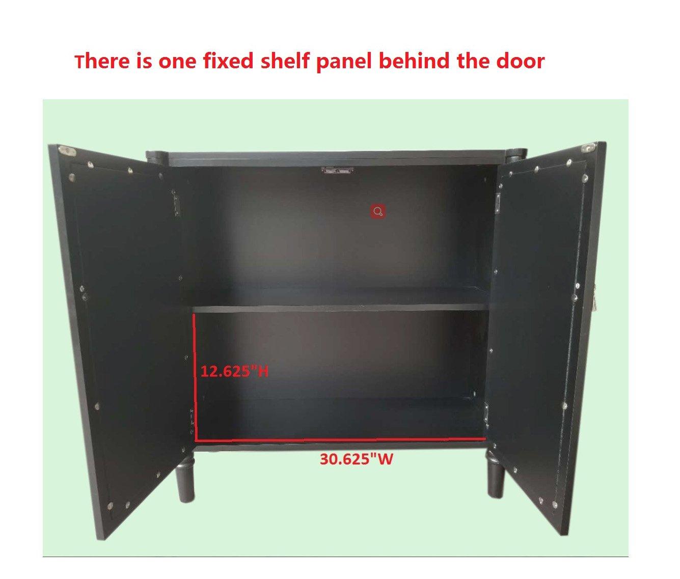 Kings Brand Furniture 2 Door Entryway Console Table Accent Cabinet, Black by Kings Brand Furniture (Image #3)