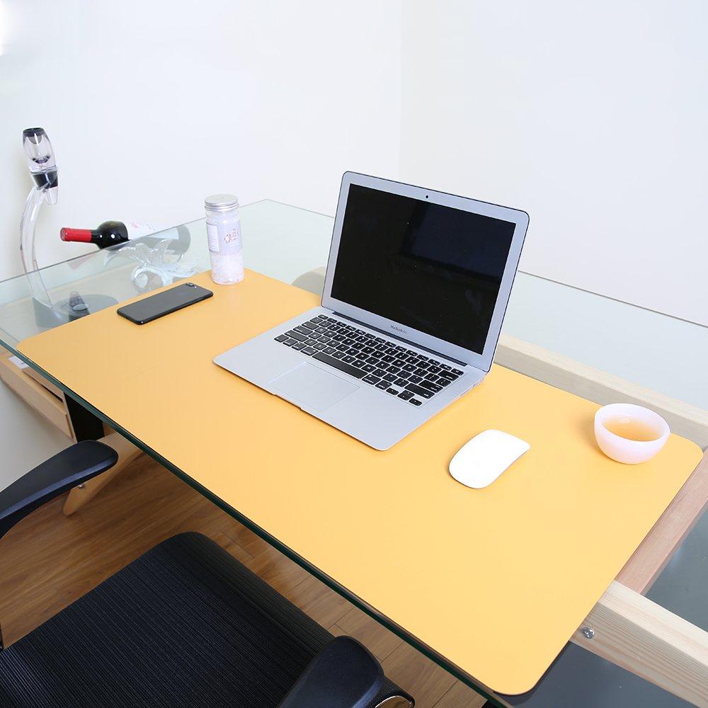 JIAN YA NA PU Leder Mauspad Matte Wasserdicht Perfekte Doppelseite Schreibtisch Schreibmatte f/ür B/üro und Zuhause Ultrad/ünne 2mm