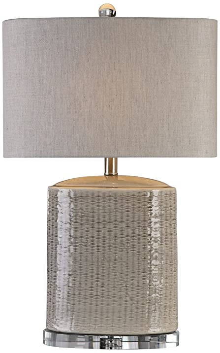 Uttermost 27231 1 Modica   One Light Table Lamp, Textured/Light Taupe Gray