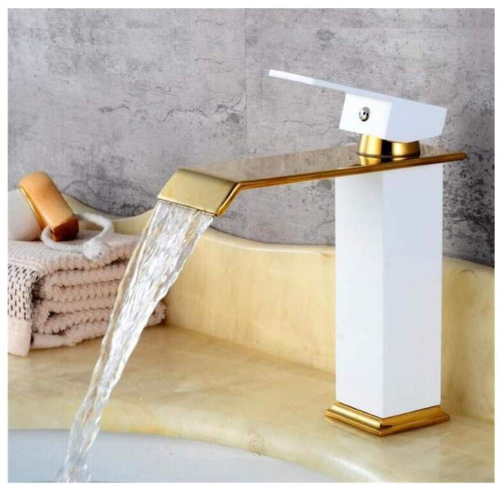 Brass Wall Faucet Chrome Brass Faucet Tap with Hot and Cold Water Crane