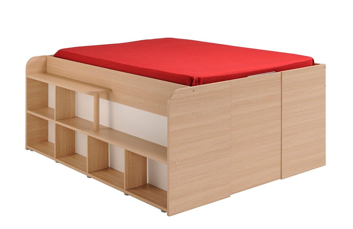 Parisot 1531lico Bett–Space _ UP Eiche Baltimore/weiß Holz