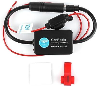 Amplificador de señal de antena FM AM de 12 V Ant – 208 para coche, barco, RV