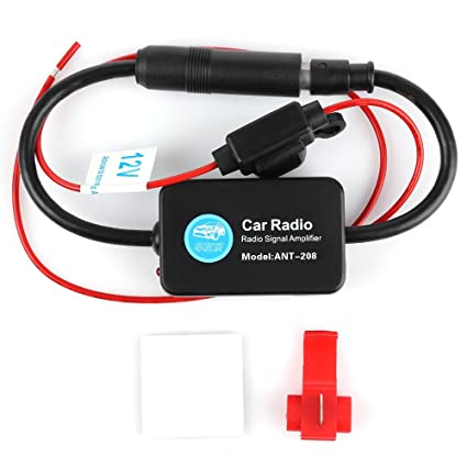 Universal Car FM Radio Aerial Antenna Signal Amplifier Booster