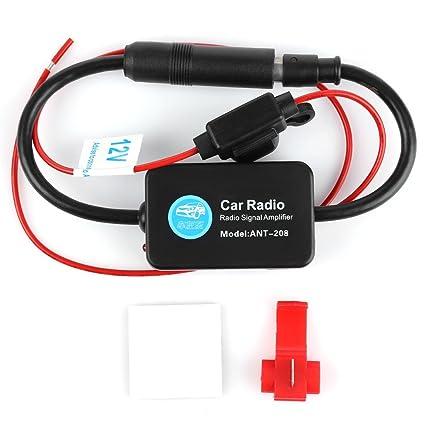 12V Ant - 208 Car Radio FM AM Antenna Signal Amplifier Booster for Marine  Car Boat RV