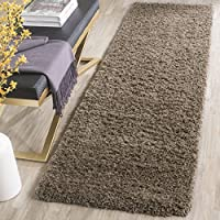 Safavieh Laguna Shag Collection SGL303D Taupe Runner (2'3' x 8')