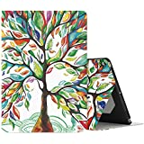 MoKo Case Fit iPad Pro 10.5 2017 - Premium Light Weight Stand Folio Shock Proof Cover Protector Fit Apple iPad Pro 10.5 Inch 2017 Released, Lucky Tree (with Auto Wake/Sleep)