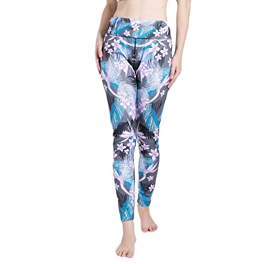 3651183f9f Amazon.com: Women Leggings, Neartime Printed Basic Patterned Yoga ...