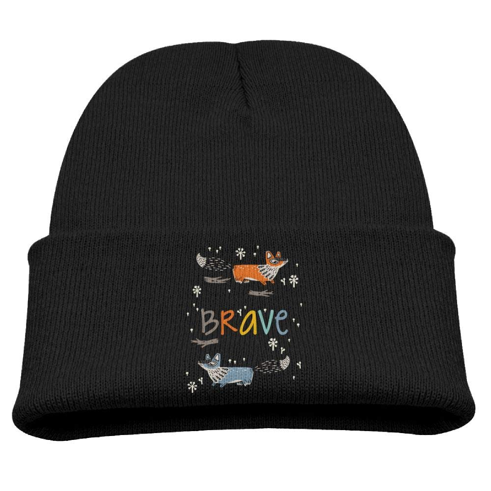 Be Brave Little One Fox Skull Hats Beanie Cap 0-3 Old Baby Boys