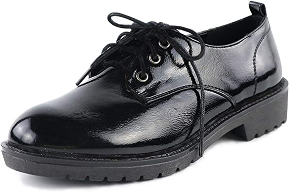 Women Retro Casual Ankle Boots Oxfords Lace Up Flats British Style Shoes Loafers
